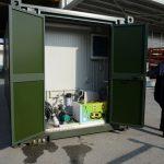 Vano tecnico shelter prefabbricato attrezzato per lavastoviglie