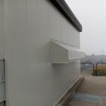 Shelter prefabbricato vista laterale